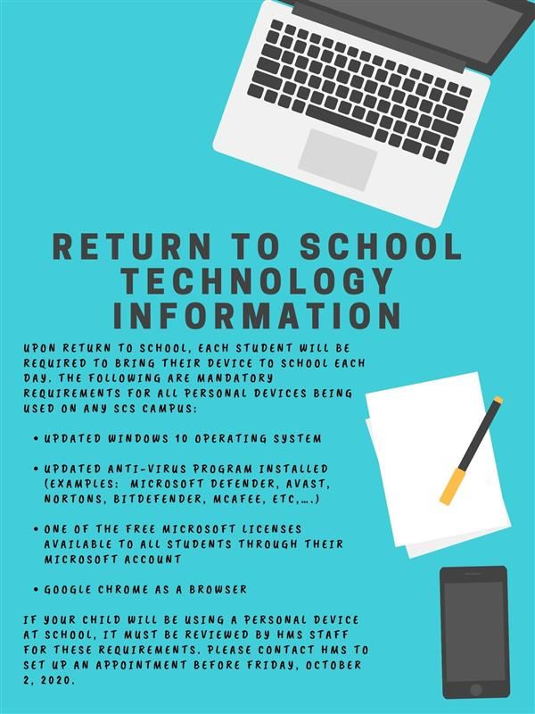 Return to School Technology Information