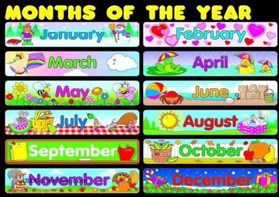 Ridiculous image with regard to months of the year printable