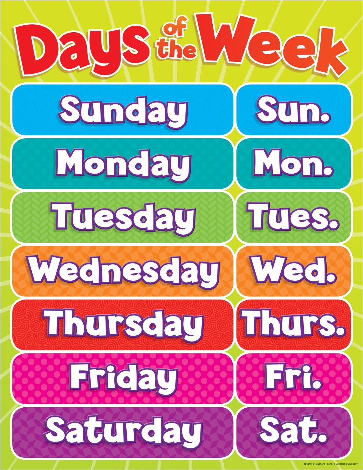 It's just an image of Lively Free Printable Days of the Week