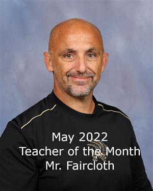 May Teacher of the Month