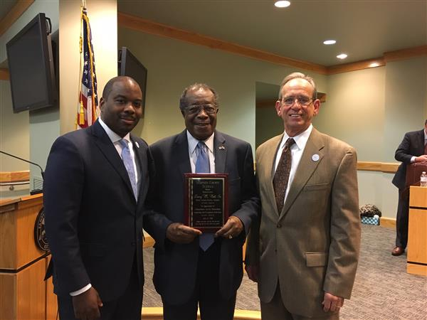 Dr. Larry Bell Recognized for Years of Service and Dedication to Education