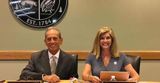 Board of Education Chair and Vice-Chair Elected to Serve in Positions Another Year